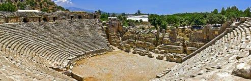 Amphitheater of myra panorama Stock Photos