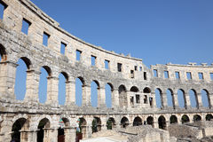 Amphitheater nei PULA, Croatia Fotografia Stock