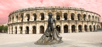 Amphitheater in Nimes Royalty Free Stock Images