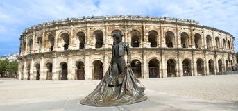 Amphitheater in Nimes Royalty Free Stock Photos