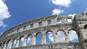 Amphitheater. Old roman empire Royalty Free Stock Photos