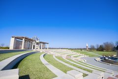 Amphitheater in the park Royalty Free Stock Photography