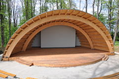 Amphitheater in the park Stock Photo