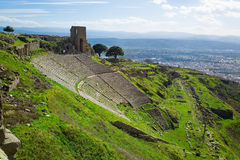 Amphitheater Pergamon Stockfotos