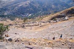 Amphitheater in Pergamon Lizenzfreie Stockfotos