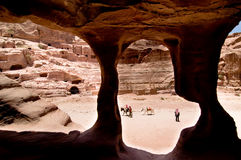 Amphitheater at Petra Stock Images