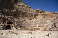 The amphitheater in Petra. Jordan Royalty Free Stock Images