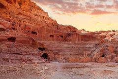 Amphitheater in Petra Stock Image
