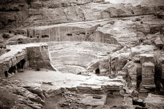 Amphitheater in Petra Royalty Free Stock Image