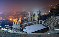 Amphitheater in Plovdiv, Bulgaria Stock Photos