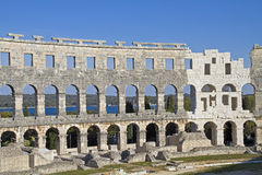 Amphitheater in Pula Royalty Free Stock Photography