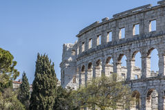 Amphitheater in Pula Royalty Free Stock Photo