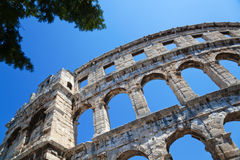 Amphitheater in Pula Stock Image