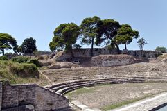 Amphitheater in Pula. Ancient Roman amphitheater on the outskirts of the Empire Royalty Free Stock Photos