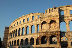 Amphitheater in Pula, Croatia Royalty Free Stock Images