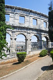 Amphitheater in Pula,Croatia Royalty Free Stock Photos