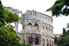 Amphitheater in Pula. Photo of the ancient amphitheater in Pula Stock Photos