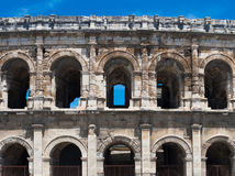 amphitheater roman forntida nimes Royaltyfri Foto