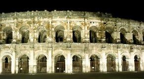 amphitheater roman nimes Royaltyfri Bild