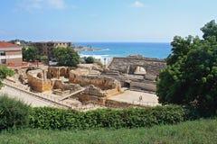 amphitheater roman tarragona arkivfoto