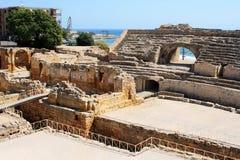 amphitheater roman tarragona royaltyfri bild