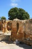amphitheater roman tarragona fotografering för bildbyråer