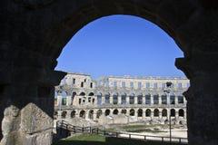 Amphitheater romano fotografie stock libere da diritti