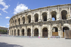 Amphitheater romano fotografia stock