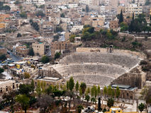 Amphitheater romano a Amman Fotografia Stock