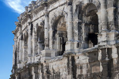 Amphitheater romano antico Fotografie Stock