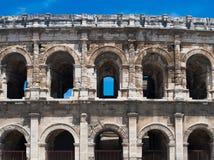 Amphitheater romano antico a Nimes Fotografia Stock Libera da Diritti
