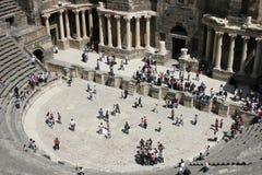 Amphitheater romano, Bosra, Siria Fotografia Stock Libera da Diritti