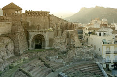 Amphitheater romano em Cartagena Fotos de Stock