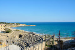 Amphitheater romano em Tarragona, Spain Fotos de Stock Royalty Free