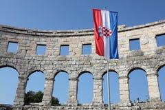 Amphitheater romano nei PULA fotografie stock