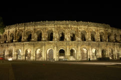 Amphitheater romano a Nimes Fotografie Stock