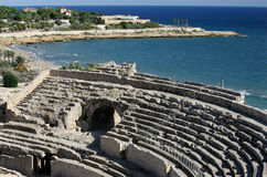 Amphitheater romano, Tarragona, Spagna Fotografia Stock Libera da Diritti