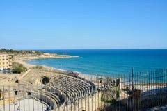 Amphitheater romano a Tarragona, Spagna Fotografie Stock Libere da Diritti