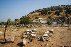 Amphitheater and ruins from Ephesus, Turkey Royalty Free Stock Images
