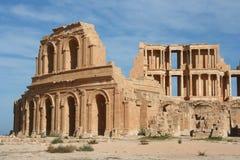 Amphitheater Sabratha Líbia Imagem de Stock Royalty Free
