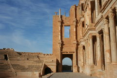 Amphitheater Sabratha Líbia Imagens de Stock Royalty Free