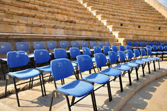 Amphitheater seat places. Stock Photo