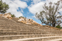 Amphitheater Seating Rows, Steps and Boulders at Mt. Helix Stock Photos