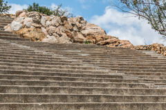 Amphitheater Seating and Steps With Boulders at Mt. Helix Park Royalty Free Stock Photo