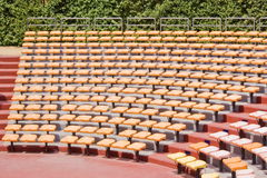 Amphitheater seats. Modern amphitheater seats for outdoor show Royalty Free Stock Photography