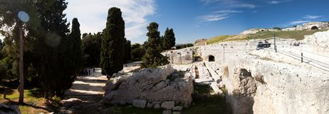 Amphitheater - Siracusa Royalty Free Stock Photography