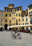 Amphitheater square in Lucca Royalty Free Stock Photo