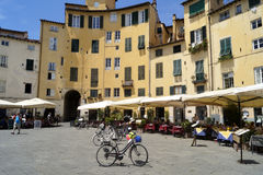 Amphitheater square in Lucca Royalty Free Stock Photography