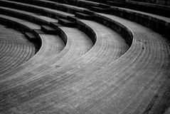 Amphitheater steps Stock Image