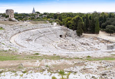 Amphitheater - Syracuse Sicily Royalty Free Stock Photography
